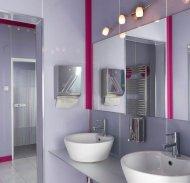 Łazienka, szkło lacobel