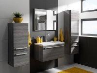 Łazienka w ciemnych kolorach