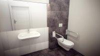 Toaleta dla niepełnosprawnych, minimalizm
