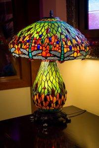 lampka z kolorowego szkła