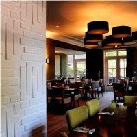 Dekoracje wnętrza w restauracji