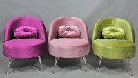 Fotele w stylu glamour, z kolekcji mebli Katarzyny Jasnyk